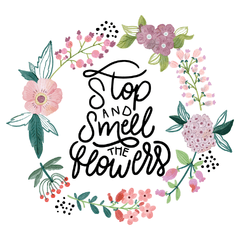 Stop and Smells the Flowers - Cartel en Vinilo Primavera - comprar online