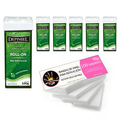 Kit 6 Roll On Aloe DEPIMIEL + Bandas Descartables x 100 Un - comprar online