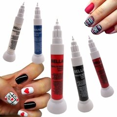 BELLAS MANOS Esmaltes decoradores con pincel liner y punta aguja x 12 ml