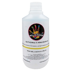 REMOVEDOR DE ESMALTE SEMIPERMANENTE Y GEL X 500 ML BELLAS MANOS