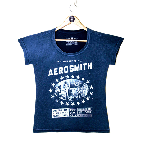 Camiseta VSR Aerosmith Boston - Feminino Slim