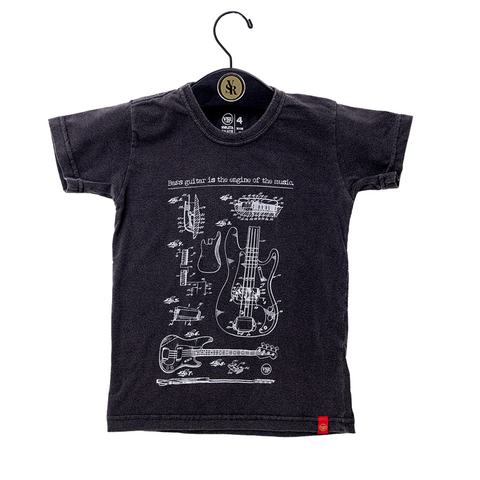 Camiseta Bass Guitar - Infantil
