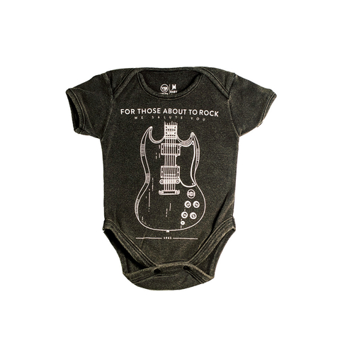 Body Bebê VSR For Those About To Rock Preto Estonado