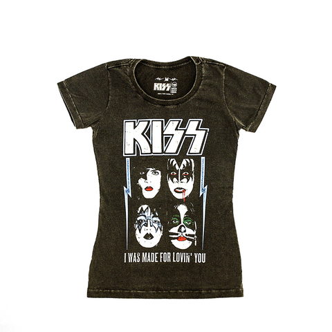 Camiseta VSR Kiss I Was Made For Lovin' You - Feminino Slim