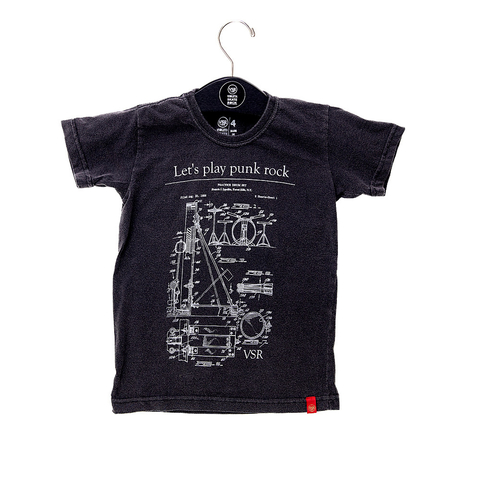 Camiseta Let's Play Punk Rock - Infantil