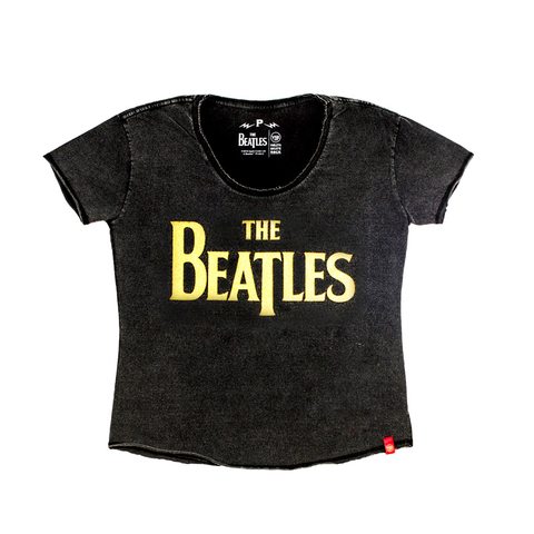 Camiseta VSR The Beatles Logo - Feminino Comfort Preto