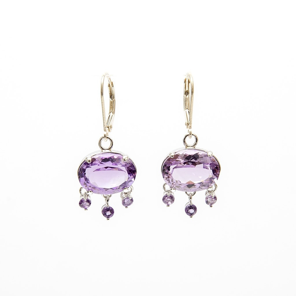 Alba Amethyst Earrings