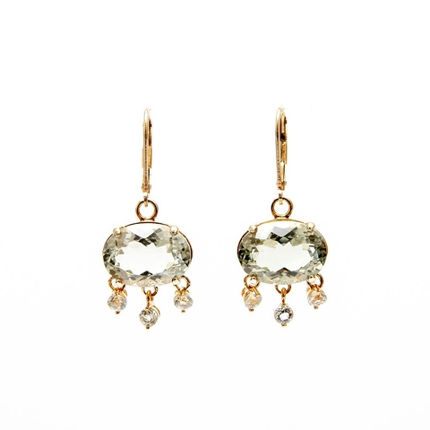 Alba Prasiolite Earrings