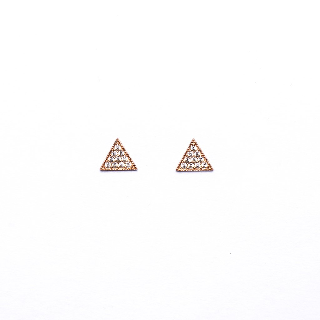 Rose Triangl Earrings