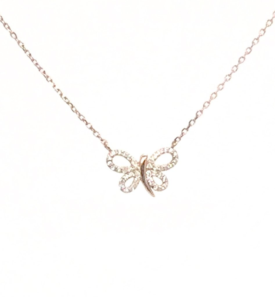 Rose Butterfly Pendant
