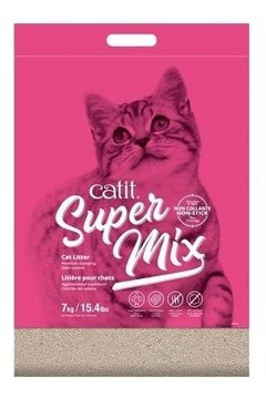 Arena Aglomerante Sanitaria Cat It Super Mix X 7 Kg