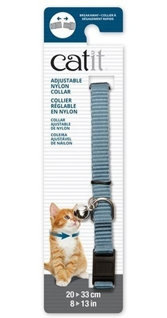 Collar Para Gatos Cat It Ajustable Celeste