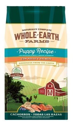 Alimento Natural Whole Earth Farms Pollo-salmon Puppy 7.5 Kg