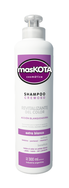Shampoo Cremoso Revitalizante Color Blanco Maskota X 300 Ml