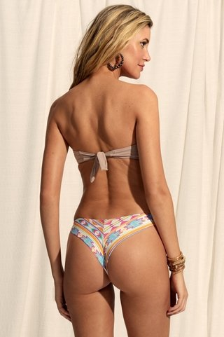 biquini bandeau bordado colorido chocolate 947124 new beach