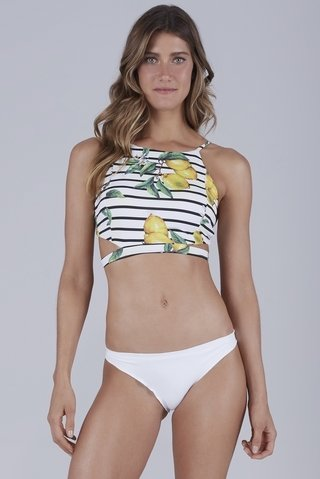 biquini cropped empina bumbum listrado limao siciliano 937147 new beach