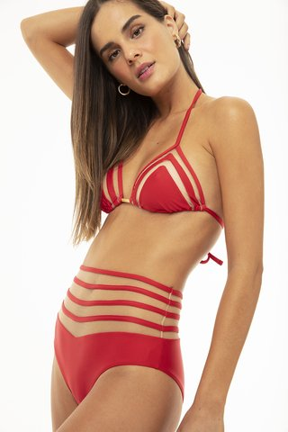 biquini hot pants lira astride red tule 20200025 hype