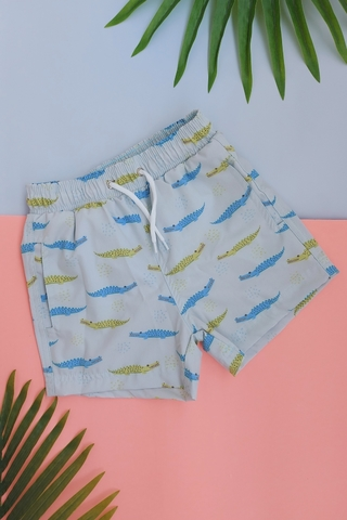 shorts infantil verde jacare 4049 mer bleu resort wear