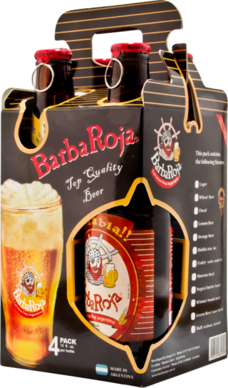 BarbaRoja® Four Pack Carton c/4 botellas x 330 cc (101)