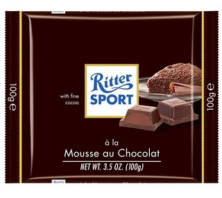 Ritter® chocolate relleno con mousse 100g