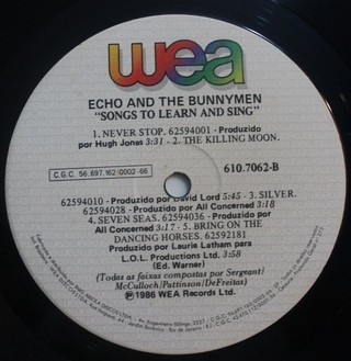 Echo & The Bunnymen - Songs to Learn & Sing [LP] - loja online