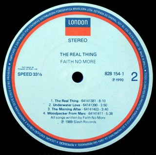 Faith No More - The Real Thing [LP] - 180 Selo Fonográfico