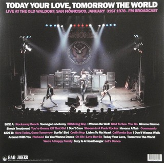 Ramones - Today Your Love, Tomorrow The World [LP] na internet
