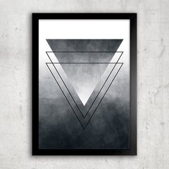 Poster Abstract Ombre Triangle