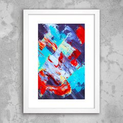 Poster Abstract Red Blue - comprar online