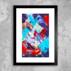 Poster Abstract Red Blue