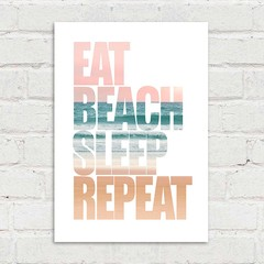 Imagem do Poster Eat Beach Sleep Repeat