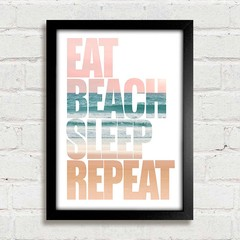Poster Eat Beach Sleep Repeat - loja online