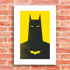 Poster Batman Yellow - Encadreé Posters