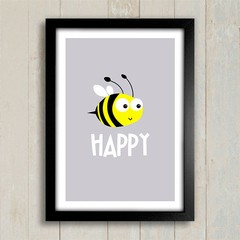 Poster Bee Happy - comprar online