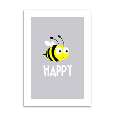 Poster Bee Happy - Encadreé Posters