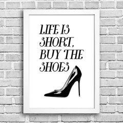 Poster Buy the shoes - Encadreé Posters