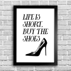 Poster Buy the shoes na internet