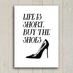 Poster Buy the shoes - loja online