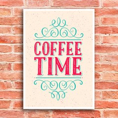 Poster Coffee Time - Hora do Café na internet