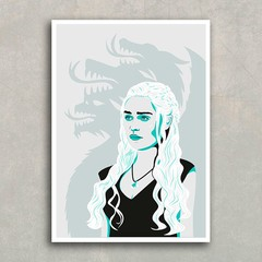 Poster GOT Daenerys & DRAGONS na internet