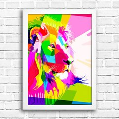 Poster Geometric Lion Color na internet