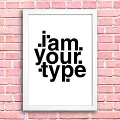 Poster I am your type na internet