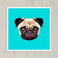 Quadro Pug Colors - Blue