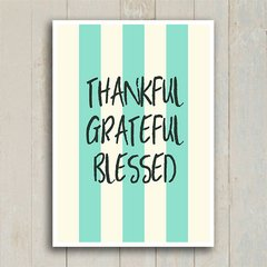 Poster Thankful Grateful Blessed - Encadreé Posters