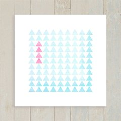 Quadro Triangles Pink and Blue
