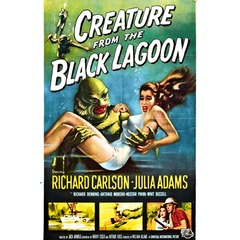 Poster Creature From The Black Lagoon na internet