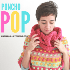 PONCHO POP CON MAXI CUELLO - PATRÓN EN PDF on internet