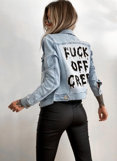 Campera Jeans Fuck Off