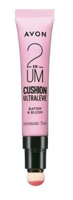Batom e Blush 2 em 1 Cushion Ultraleve 7ml [Avon]