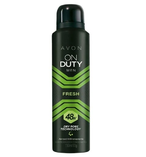 Men Fresh Desodorante Aerosol Masculino 150ml [On Duty - Avon]